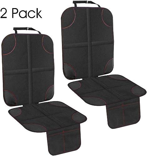 und wasserabweisender Stoff Jumaro Kindersitzunterlage hochwertiger 2 in 1 Autositzschoner mit Antirutsch-Unterlage besonders schmutz- extra stabile Taschen