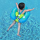 Free Swimming Baby Inflatable Baby Swimming Float with Safe Bottom Support and Swim Buoy Floats for Safer Swims (New Version, L)