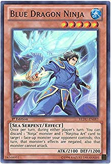 Yu-Gi-Oh! - Blue Dragon Ninja (REDU-EN083) - Return of the Duelist - Unlimited Edition - Super Rare