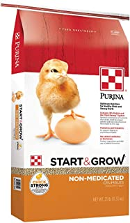 Purina Start & Grow Starter/Grower Non-Medicated Feed Crumbles, 25 lb Bag