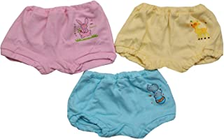 Triple B® Presents Cool Soft & Cozy Cotton Baby Girl's & Boy's Panties,Bloomer,Innerwear,Drawer - Set of 3 (12-18 Months)