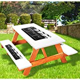 """72"""" Polyester Elastic Edge Fitted Picnic Table Cover Set,Realistic Illustration of a Clapper Board Symbol for Film and Video Industry Tablecloth Fits 6 ft Picnic Tables for Outdoor,Park,Patio"""