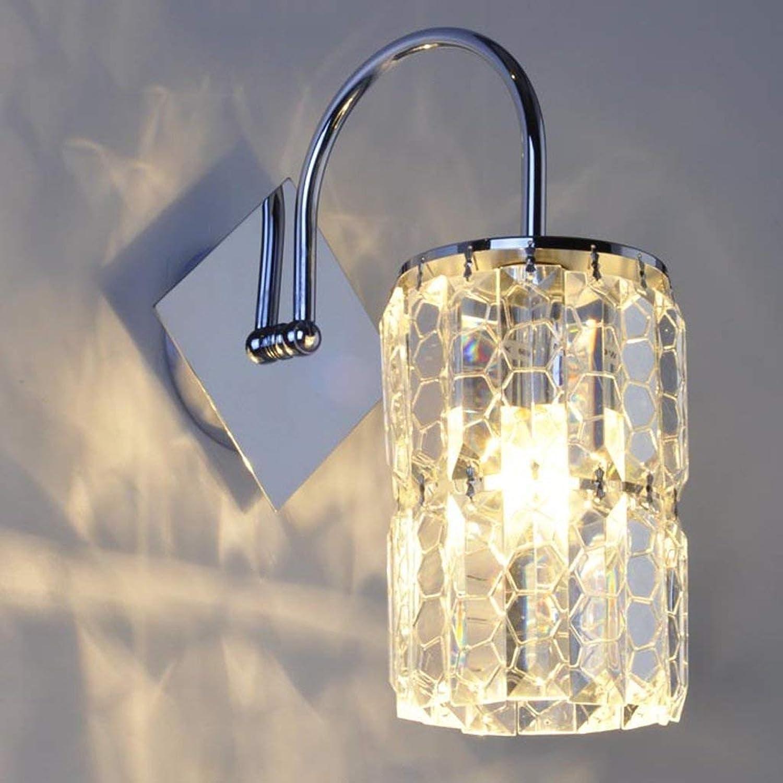 Wandleuchte,Moderne, einfache Persnlichkeit kreative Nachttischlampe crystal Wandleuchte Treppe gang Lampe Wohnzimmer Schlafzimmer Wand Lampe A (Farbe  Crystal)