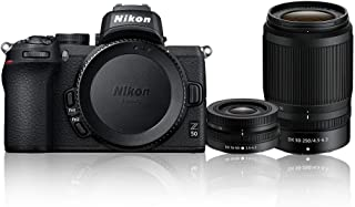 Nikon Z 50 + NIKKOR DX 16-50mm f/3.5-6.3 VR + NIKKOR DX 50-250mm f/4.5-6.3 VR Twin Lens Kit, Black