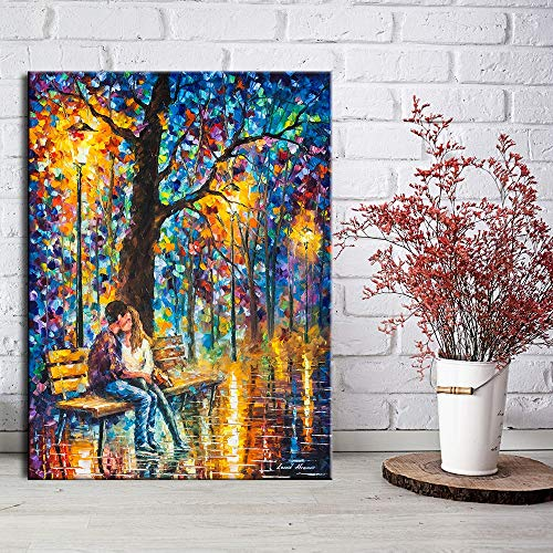 mlpnko Abstract street scene Paint by Numbers Adults Diy Kits Canvas Oil Painting for Kids, Students Beginner with Brushes and Acrylic Pigment40x60cmFrameless painting