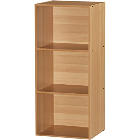 Hodedah 5-Shelf Bookcase Cherry 2 Pack