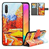 LFDZ Compatible with Mi A3 Case, PU Leather Mi CC9e Wallet