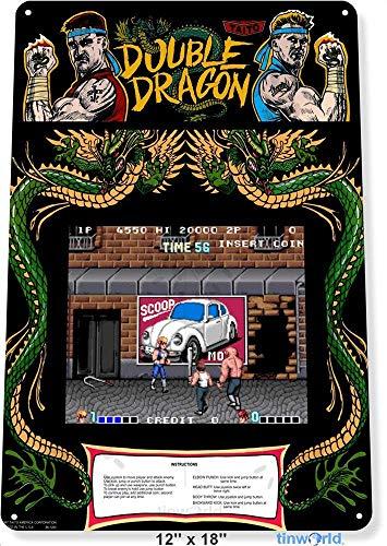 Anjoes - Carpa de metal para sala de juegos, diseño de dragón doble, 30,5 x 40,6 cm