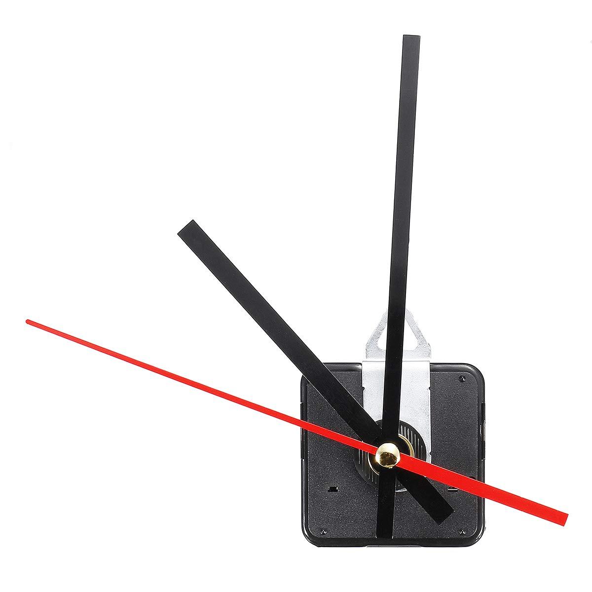 noir WINOMO Kits de mouvement d/'horloge silencieux pour remplacement de l/'horloge DIY
