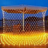 200 luces LED Light Net 3 x 2 metros LED guirnaldas luminosas impermeables 8 modos guirnaldas luminosas cortina interior exterior decoración para jardín de boda