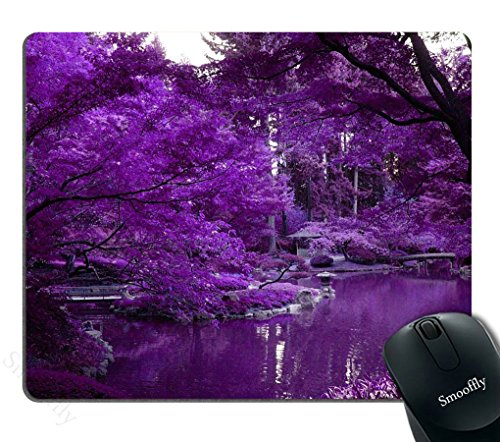 Smooffly Purple World and Zen Pond Personalized Rectangle Mouse Pad