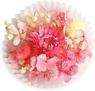 花材セット 手芸クラフト ハーバリウム 花材 ドライフラワー プリザーブドフラワー アロマワックスサシェ キューピットピンク
