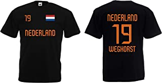 Holland-Nederland Weghorst Herren T-Shirt EM 2020 Trikot Look Style Shirt 19