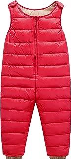 Happy Cherry - Bebé Pantalones de Peto Plumón Invierno