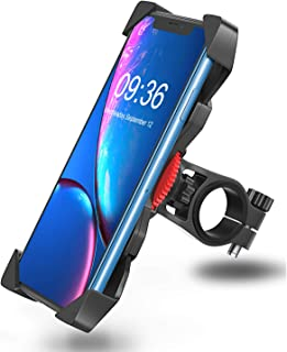 Bovon Bike Phone Mount, Universal Adjustable Bicycle Motorcycle Phone Holder Cradle Clamp for iPhone 11 Pro Max/X/XR/XS MAX/8/7/6 Plus, Samsung Galaxy S10/S10e/S9 and Most 3.5
