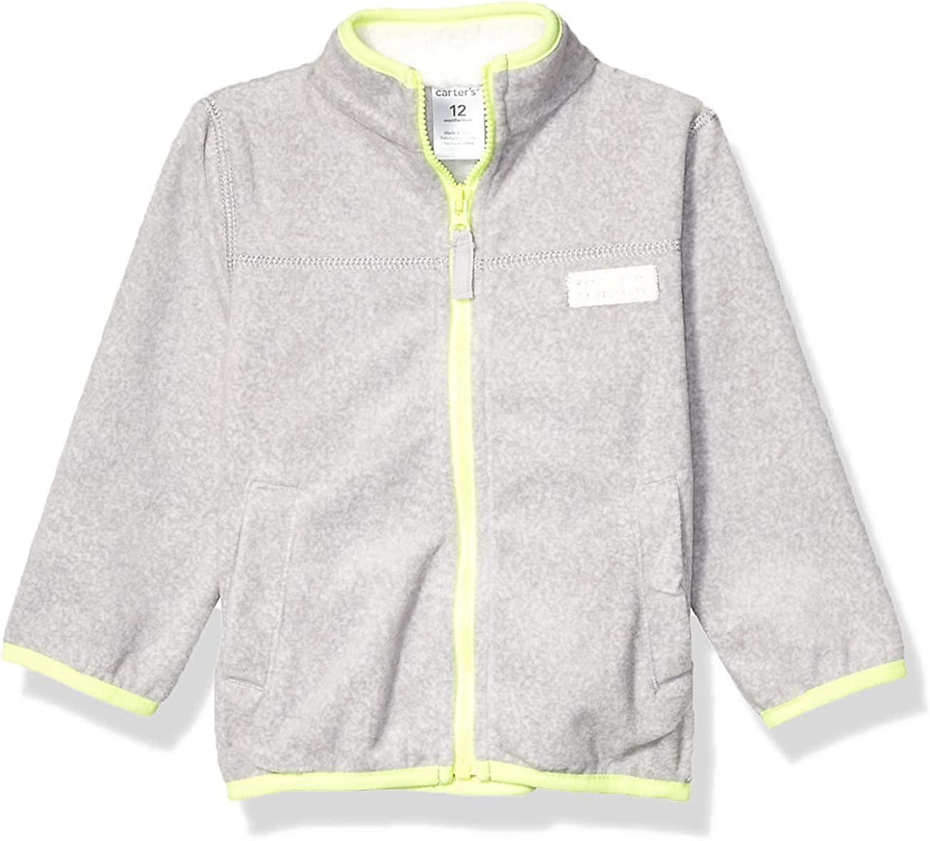 Carter's Baby Girls' Microfleece Jacket (Baby) - Heather - 12 Months