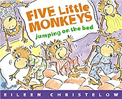 five little monkeys jumping on the bed - number book