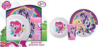 My Little Pony 3-piece Kids Plastic Plate, Bowl & Cup Dinnerware Se in Box