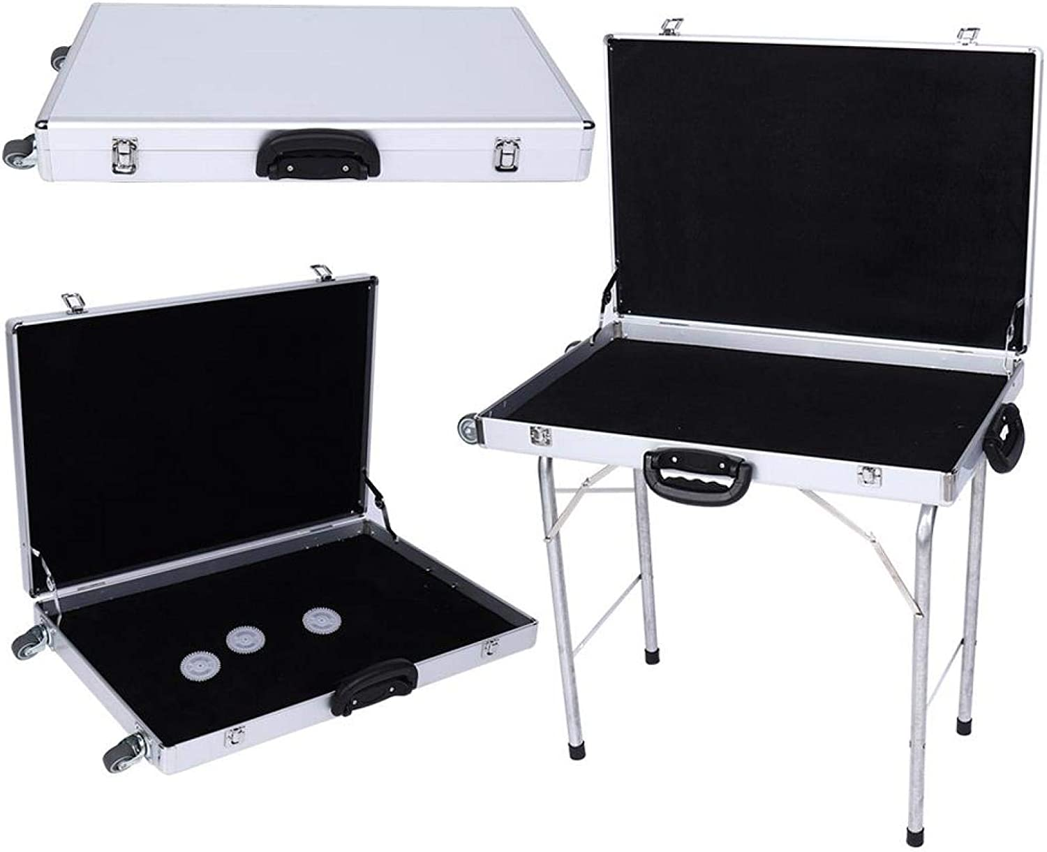 DAUERHAFT Folding Table Jewellery Suitcase 23.6 Display 31.5 3.9 Free shipping anywhere in the Classic nation