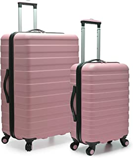 Travelers Choice Cypress Colorful 2-Piece Small and Large Hardside Spinner Luggage Set