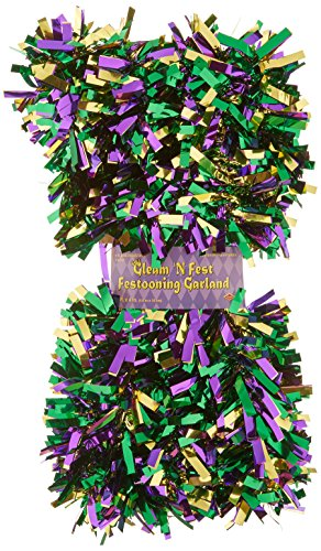 Beistle Metallic Festooning Garland Party Accessory, Mardi Gras Decorations, 4