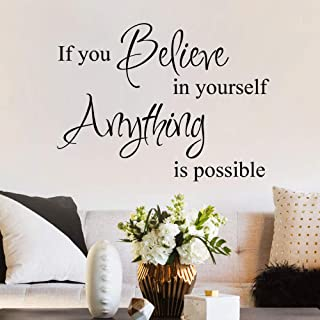 MoharWall Inspirational Quotes Decal if You Believe in Yourself Anything is Possible Wall Art Vinyl Sticker Bedroom Living...