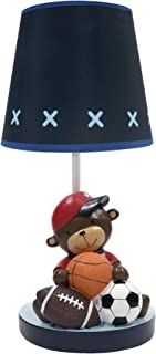 Lambs & Ivy Future All Star Lamp with Shade & Bulb, Blue