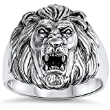 Oxford Diamond Co New Solid Lion .925 Sterling Silver Ring Sizes 8-13 (10)