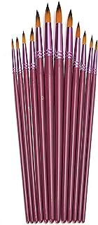Målarborstset, Chickwin 12 st/set högkvalitets konstnär målarborstar lila akvarell gouache målning penna akryl oljemålning...
