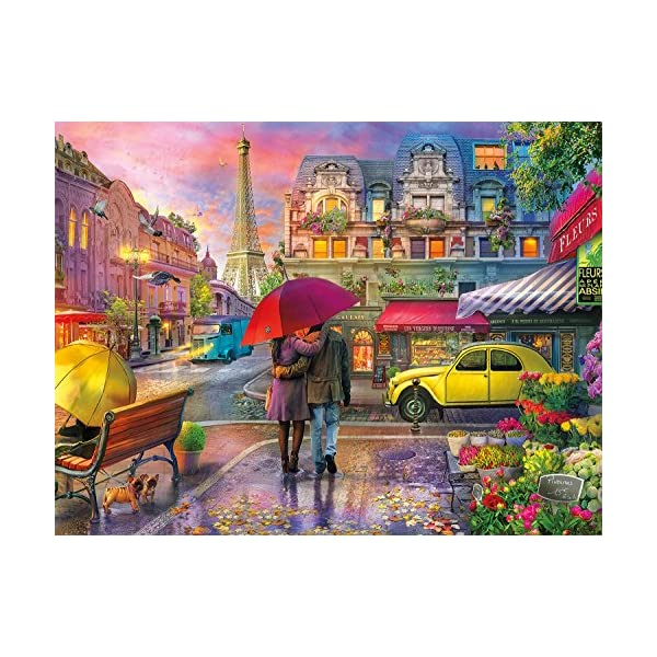 Buffalo Games – Cities in Color – Raining in Paris – 750 Piece Jigsaw Puzzle
