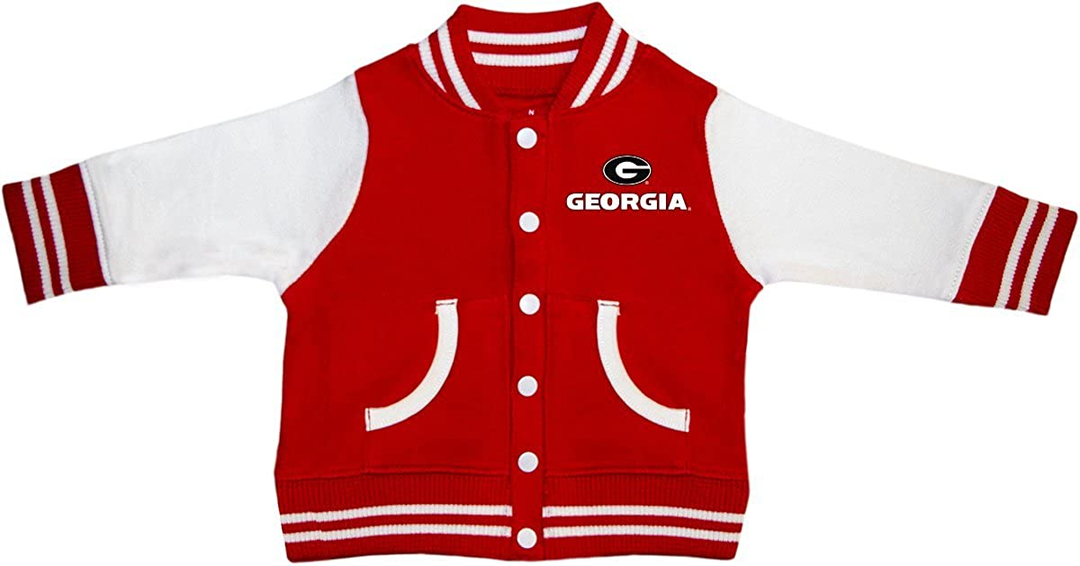 University of Georgia Bulldogs Circle G Newborn Infant Baby Varsity Jacket