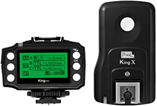 PIXEL King Pro Wireless Flash Trigger +Receiver 2.4GHz TTL for Sony MI Hot Shoe Mirrorless Digital SLR Cameras A7、A7R、A7RII、A6300、A65、A77II、RX10III, A6000、RX1RII、A7II、A7SII、A7S