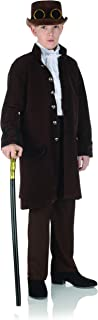 Child's Victorian Steampunk Brown Frock Coat Costume