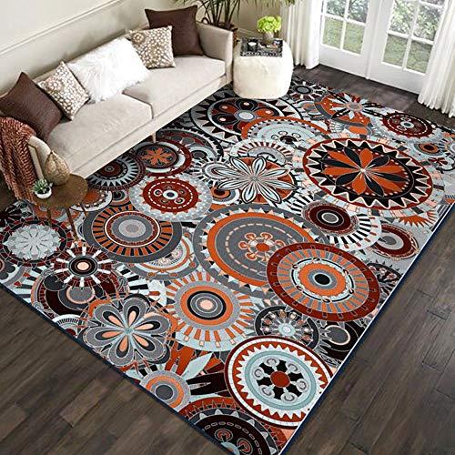 QUD Runner Mat Ultra-Thin Kitchen Rug with Non Slip Rubber Backing Bedroom Blanket Living Room Rugs Southwestern Carpet 6/19 (Size : 50x80cm)