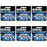 30 cuchillas Gillette Sensor Excel Cuchillas de afeitar de repuesto (5 cuchillas x 6 unidades)