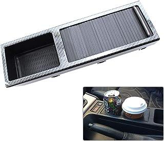 KKmoon Mittelkonsole für Auto, Getränkehalter, Geldbeutel, Innenfach, Aufbewahrungsfach aus Carbonfaser, Ersatz für B MW 3er E46 1999 2005