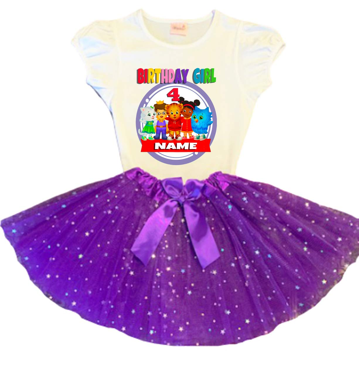 Daniel Tiger Birthday Tutu 4th Nippon regular agency Credence Purple Dress Party