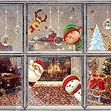 7 hojas pegatinas navideñas para ventanas muñeco nieve reno copo nieve Papá Noel...
