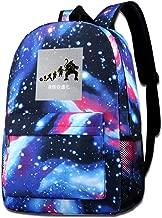 Galaxy Printed Shoulders Bag Goku Evolution Oozaru Dragon Ball Z Fashion Casual Star Sky Backpack For Boys&girls