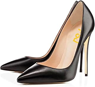 Women Formal Pointed Toe Pumps High Heel Stilettos Sexy Slip On Dress Shoes Size 4-15 US