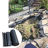 F-XW Premium HDPE Teichfolie Schwarz, Gartenpoolmembran, für professionelle Anwendungen, 3 x 5 m, 3 x 6 m, 5 x 6 m, 7 x 10 m