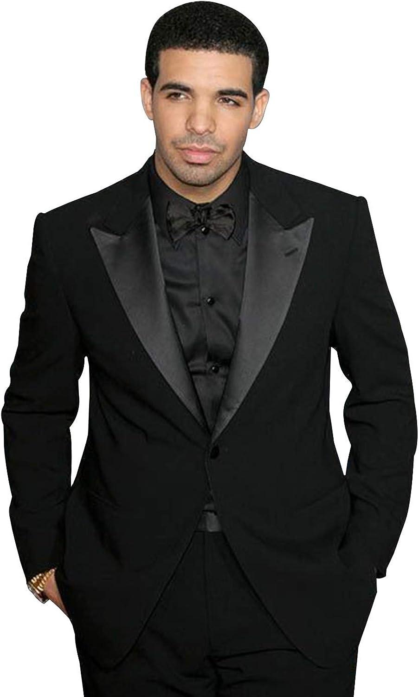 YZHEN Men's Suit One Button Peak Lapel Two Pieces Set Wedding Tuxedo