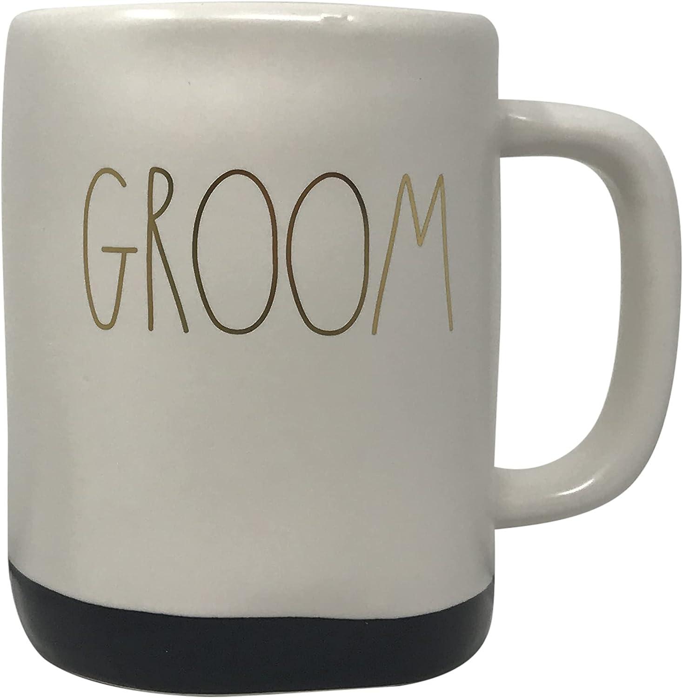 Rae Dunn Online limited product by Magenta Ceramic Coffee Ranking TOP14 Mugs Tea Bottom- Black Groom