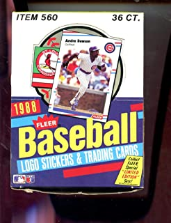 1988 Fleer Baseball Card Set Wax Pack Box Tom Glavine Rookie RC Possible