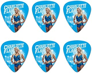 WWE Charlotte Flair Glowing Novelty Guitar Picks Medium Gauge - Set of 6