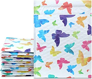 UCGOU 6x10 Inch Colorful Dot Poly Bubble Mailers Padded Envelopes Boutique Custom Bags Pack of 25Pcs (Colorful Butterfly)