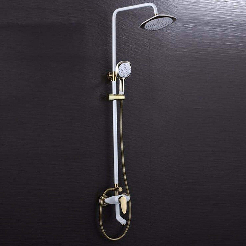 Lvsede Bad Wasserhahn Design Küchenarmatur Niederdruck Startseite Retro-Dusche VerGoldet Hei Und Kalt Kupfer Bad Aufzug Dusche G2363