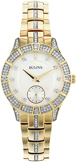 Gold Tone Stainless Steel Crystal - 98L283
