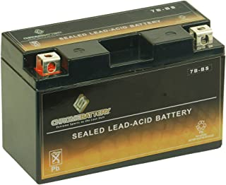 Chrome Battery YT7B-BS High Performance - Maintenance Free - Sealed AGM Motorcycle Battery