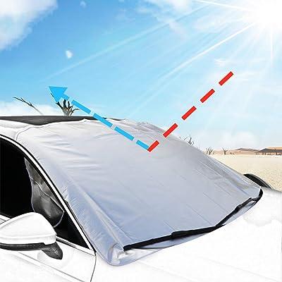 BOKIN Windshield Sun Shade-Blocks UV Rays Prote...